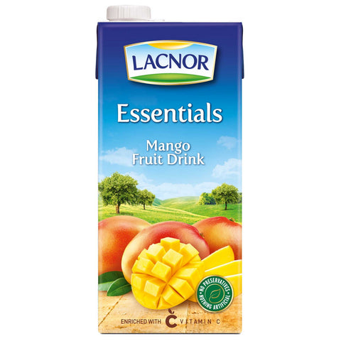 Essentials Mango Juice Lacnor 1Ltr - عصير مانجو  لاكنور