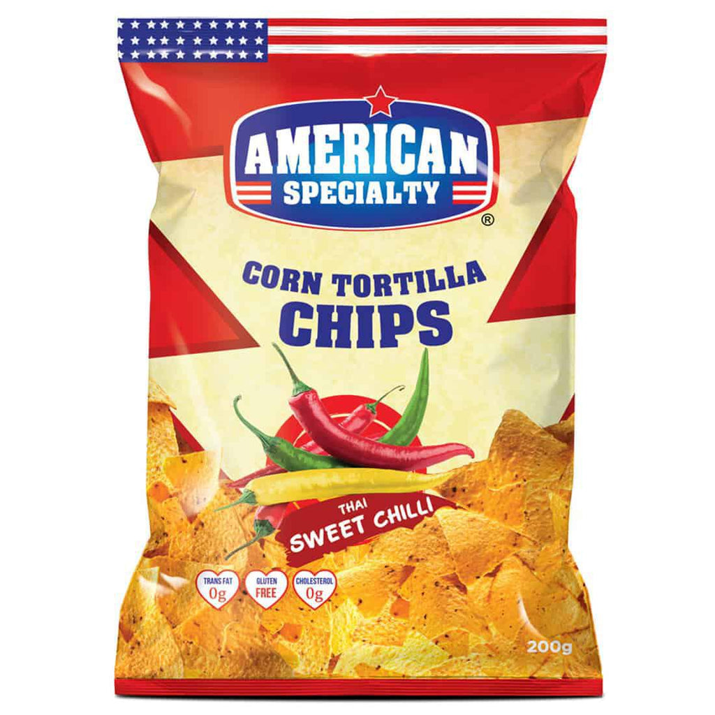 American Specialty - Corn Tortilla Chips - Thai Sweet Chilli - 200gm