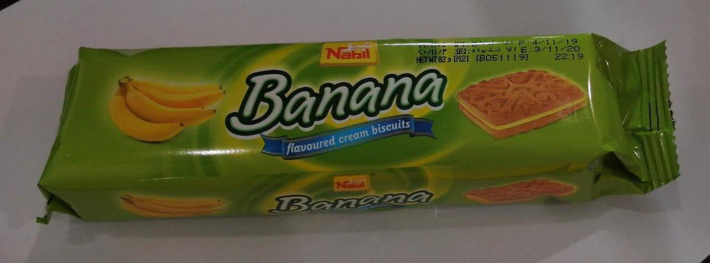 Nabil Banana Flavoured Cream Biscuits 82gm-6B - MarkeetEx