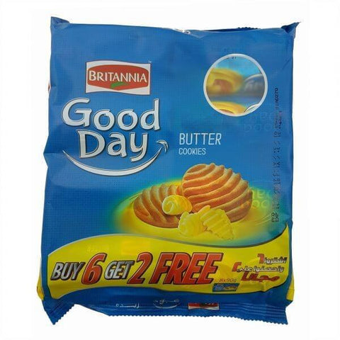 Britannia Good Day Butter Cookies 90gm (6+2 pack)