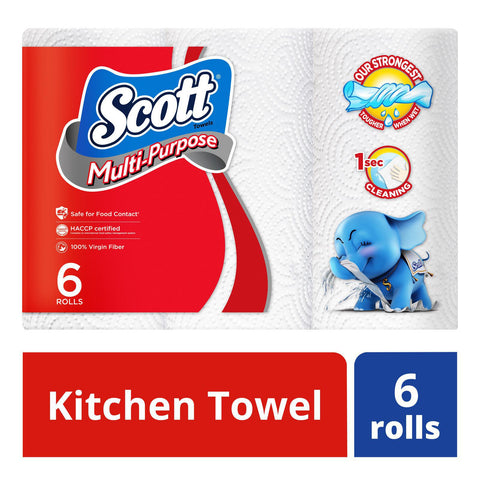 Scott Kitchen Towel, 6 Rolls Pack