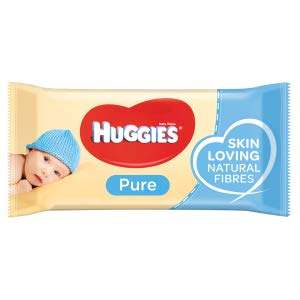 Huggies Baby Wipes Pure 56 Sheet - MarkeetEx