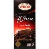 Valor 70% Cacao Intense Dark Chocolate 100gm