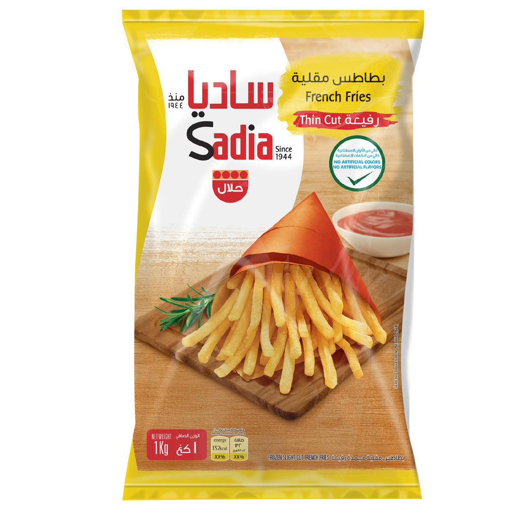 Sadia Frozen French Fries - Thin Cut - 1kg - MarkeetEx
