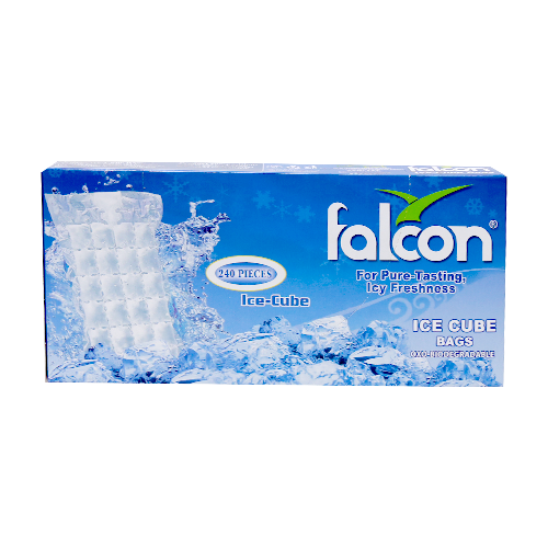 Falcon 240pcs Ice Cube - 10  Bags X 24 cubes Pack - MarkeetEx