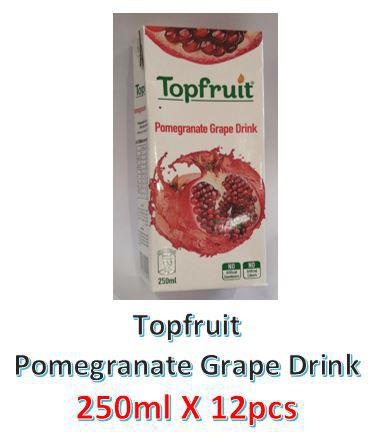 Topfruit Pomegranet Grape Juice Drink 250ml X 12Pcs - MarkeetEx