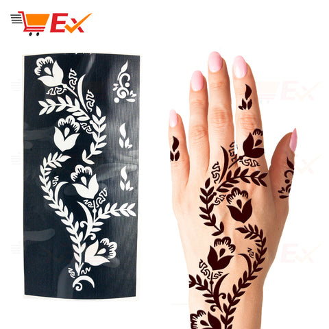 Henna Stencil Sticker Set #22 طقم ستيكر حناء