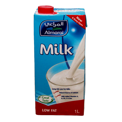 Milk Low Fat Long Life Almarai 1Ltr