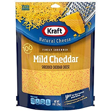 Kraft Mild Cheddar Finely Shredded Natural Cheese, 8 oz Pouch - MarkeetEx