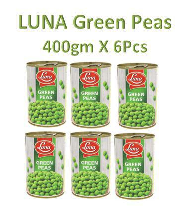 Luna Green Peas 400gm X 6Pcs - بازيلاء لونا
