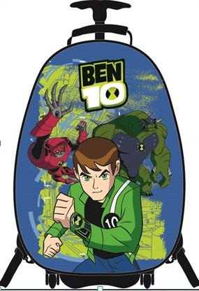 "School Bag Ben10 - 16"" Hard Trolley Front ABS"