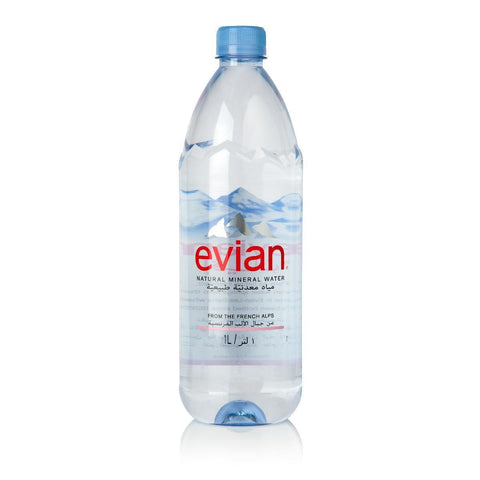 Evian Natural Mineral Water 1Ltr