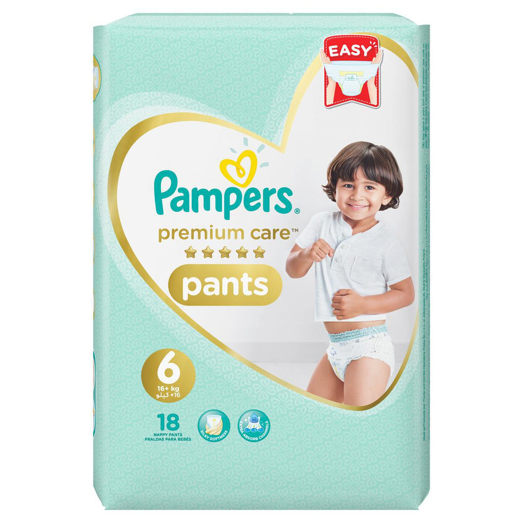 Pampers Pants Diapers Premium Care  Stage 6 - 18 Counts - MarkeetEx