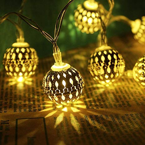Decorativ E-TAIL 12 LED Metal Ball Decoration Lights