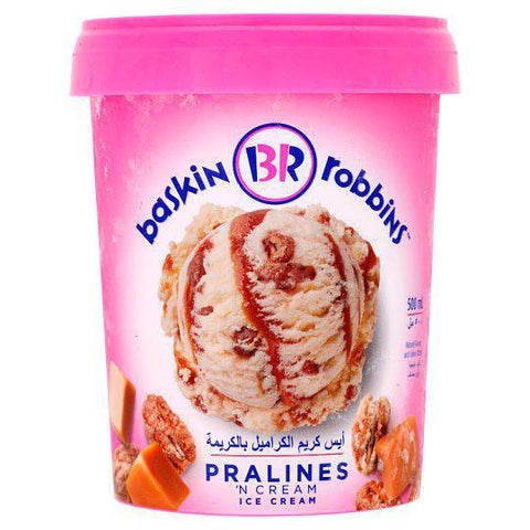 Baskin Robins Pralines N Cream 500ml - MarkeetEx