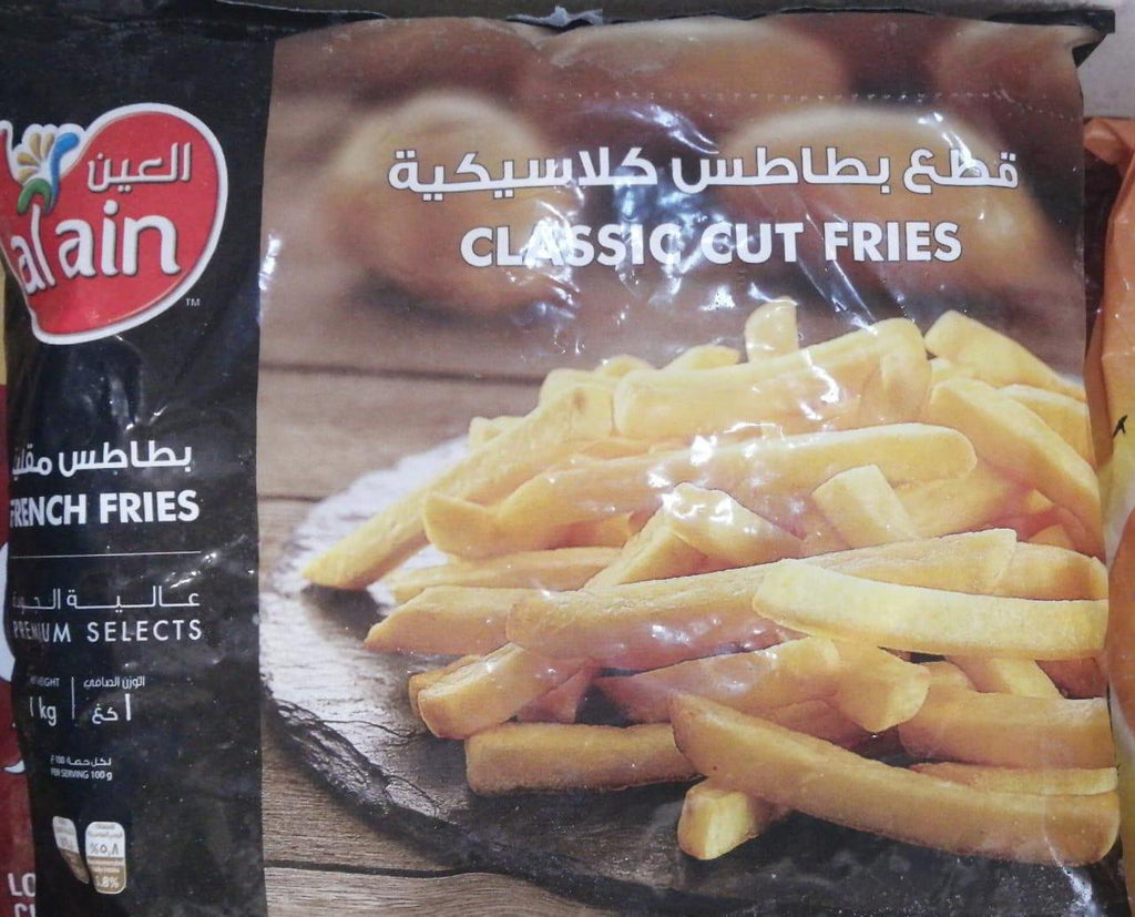 AlAin French fries Classic Cut 1kg - MarkeetEx