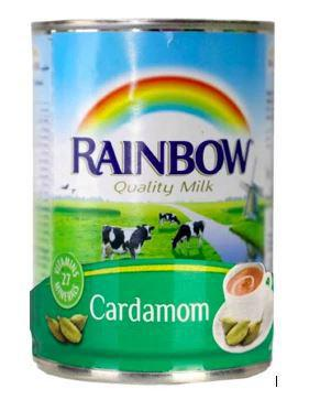 Rainbow Fresh Evaporated Milk - Cardamom 410gm/385ml - MarkeetEx