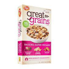 Post Great Grains Cereal 453gm - Raisins, Dates & Pecans - MarkeetEx
