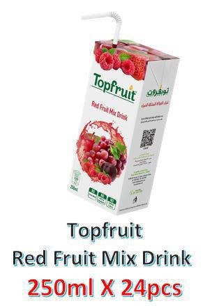 Topfruit Red Fruit Mix Juice Drink 250ml X 24Pcs Pack