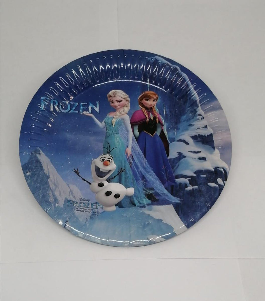 Party Paper Disposable Plate - Disney Frozen - 10 Pcs Pack - MarkeetEx