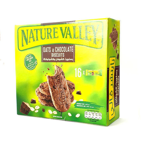 Nature Valley Oats & Chocolate Biscuits 16 X 25gm = 400gm