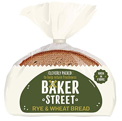 BAKER STREET RYE & WHEAT BREAD LOAF 500 GRAM