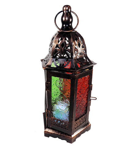 Ramadan Lantern Metal Fanoos Brown