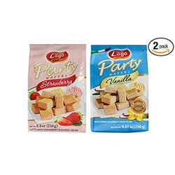 Lago Party Wafer 2 Pcs X 250GM Vlaue Pack - Assorted