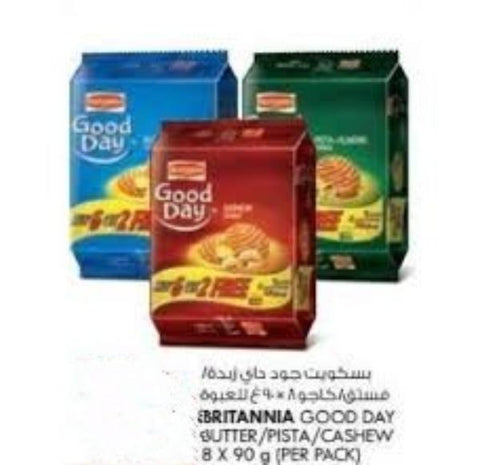 Britannia Good Day Cashew + Butter + Pista Almond Cookies 81gm x 8 pcs Pack