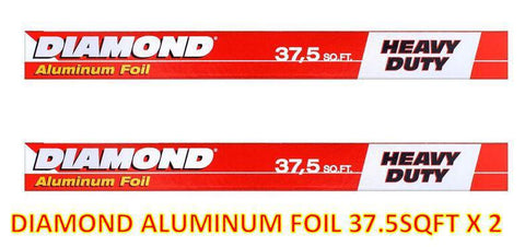 DIAMOND ALUMINUM FOIL 37.5 SQ.FT X 2 OFFER PACK - MarkeetEx