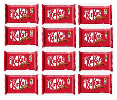 Kitkat 4 Finger Milk Choocolate Bar 12 pcs Pack