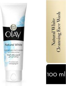 OLAY NATURAL WHITE CLEANSING FACE WASH 100ML NEW - MarkeetEx