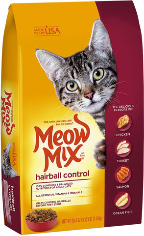 Meow Mix Hairball Control Dry Cat Food 1.43KG