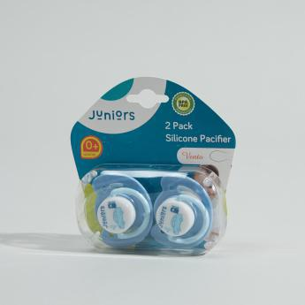Juniors 2 Pack Silicone Pacifier 0+Month
