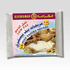 Alkaramah Puff Pastry Square Low Fat 400gm - MarkeetEx