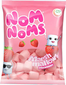 NOM NOMS STRAWBERRY MALLOWS 150GM