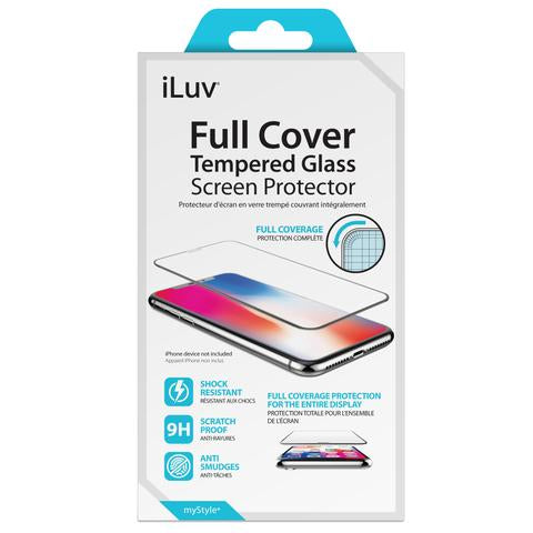 iLUV Full Cover Tempered Glass for iPhone Xs Max - AIXPFCSTEMF