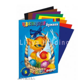 "Colored paper set ""Kitty'', A4, 8 colors, 16 sheets, density 80 gsm - MarkeetEx"