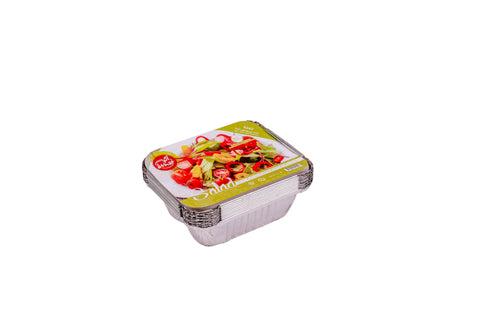 ATHAR : Aluminium Foil Container with Safety Handle - Salad - Small - MarkeetEx