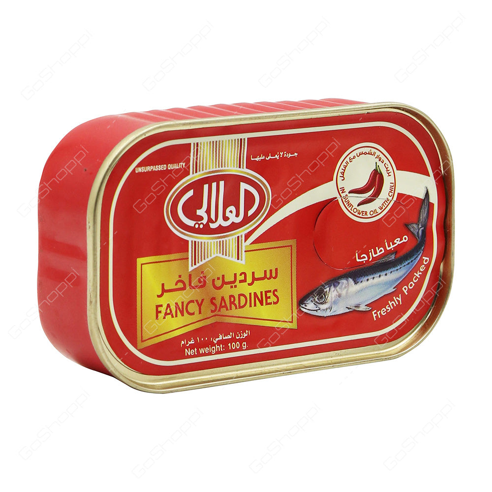 Al Alali Fancy Sardines in Sunflower Oil with Chilli - 100 gm - MarkeetEx