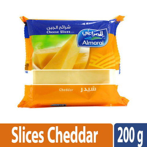 ALmarai Cheddar Slices Cheese 10PC 200g - MarkeetEx