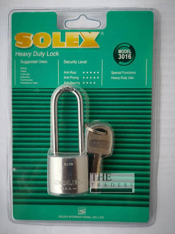 SOLEX long shackle padlock 30mm - Heavy Duty Model : 3016 - MarkeetEx