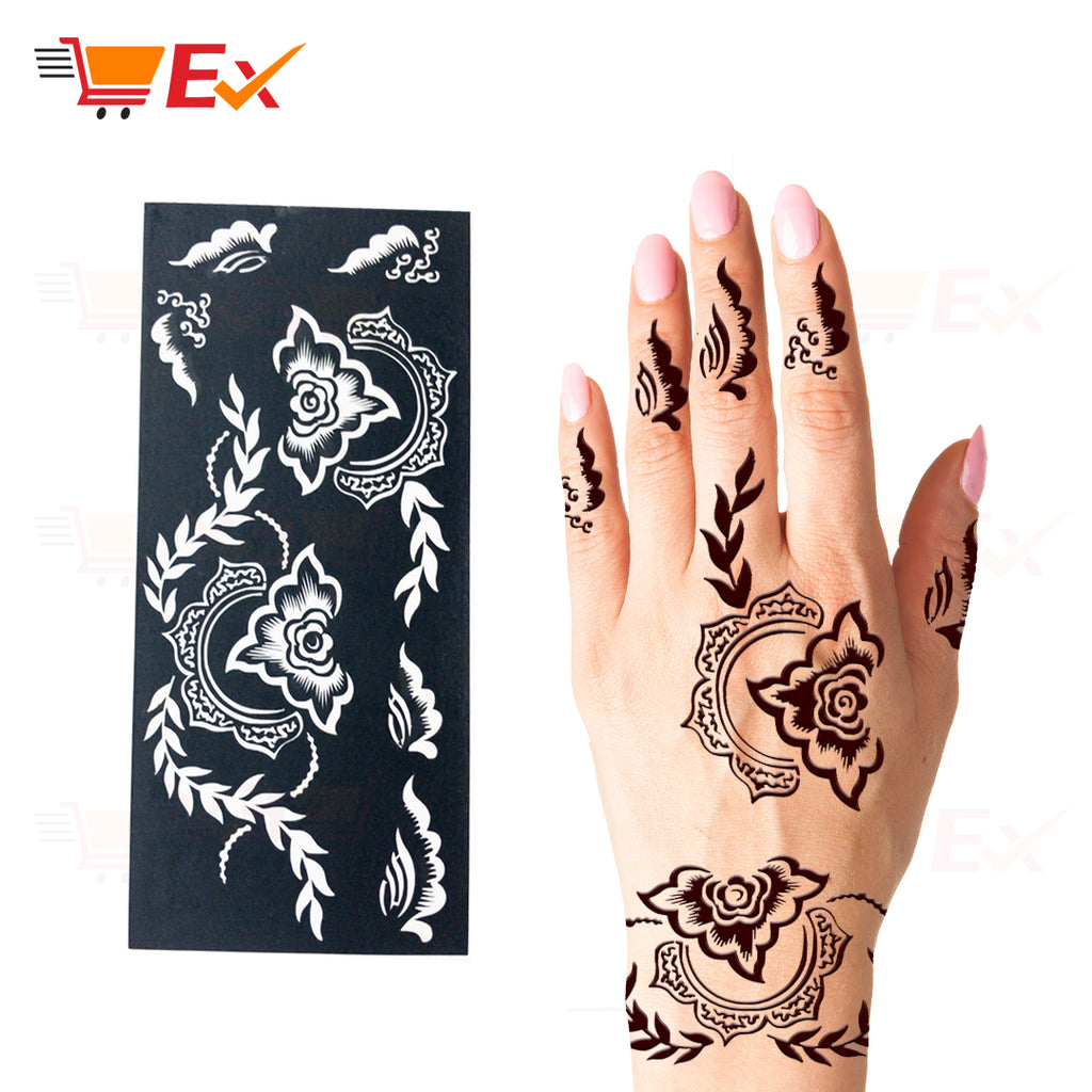 Henna Stencil Sticker Set #16