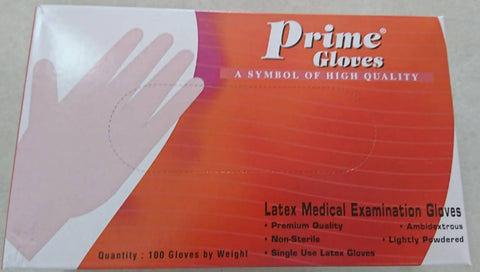 Prime Latex Gloves - Medium (100)