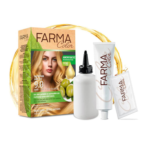 FARMASI FARMACOLOR EXPERT HAIR DYE 9.0 VERY LIGHT BLONDE - MarkeetEx