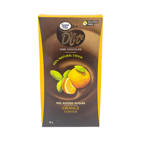 D'lite Sugar Free Dark Chocolate Orange 40g