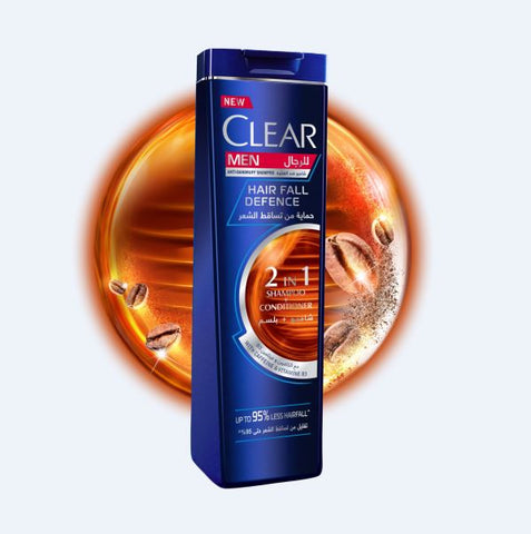 CLEAR MEN HAIR FALL DEFENCE 2 IN 1 SHAMPOO + CONDITIONER 200ML