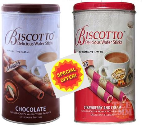 Biscotto Delicious Wafer Stick Assorted 2pcs X 375gm