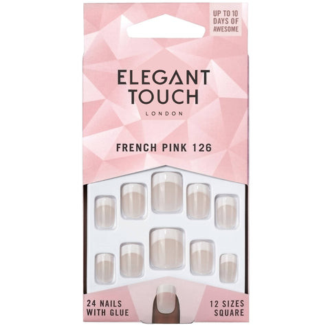 ELEGANT TOUCH LONDON FRENCH PINK PRESS-ON NAILS