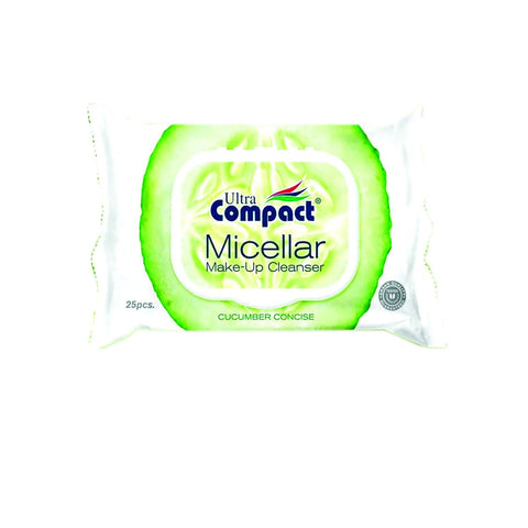 MICELLAR MAKE UP CLEANSER CUCUMBER 25 PCS مناديل مزيل الميك اب